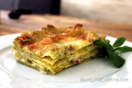 Pesto-lasagna-and-bacon